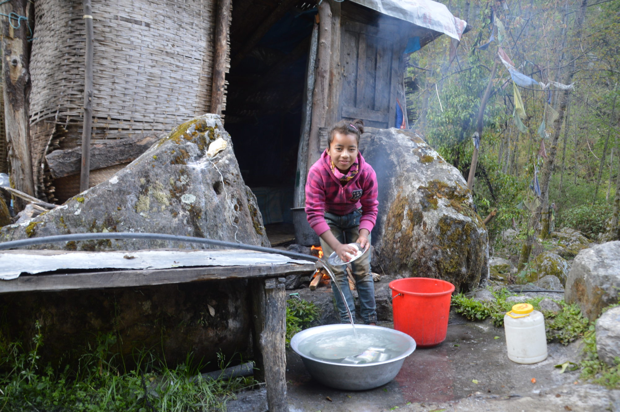 Lady Cleans on the Langtang