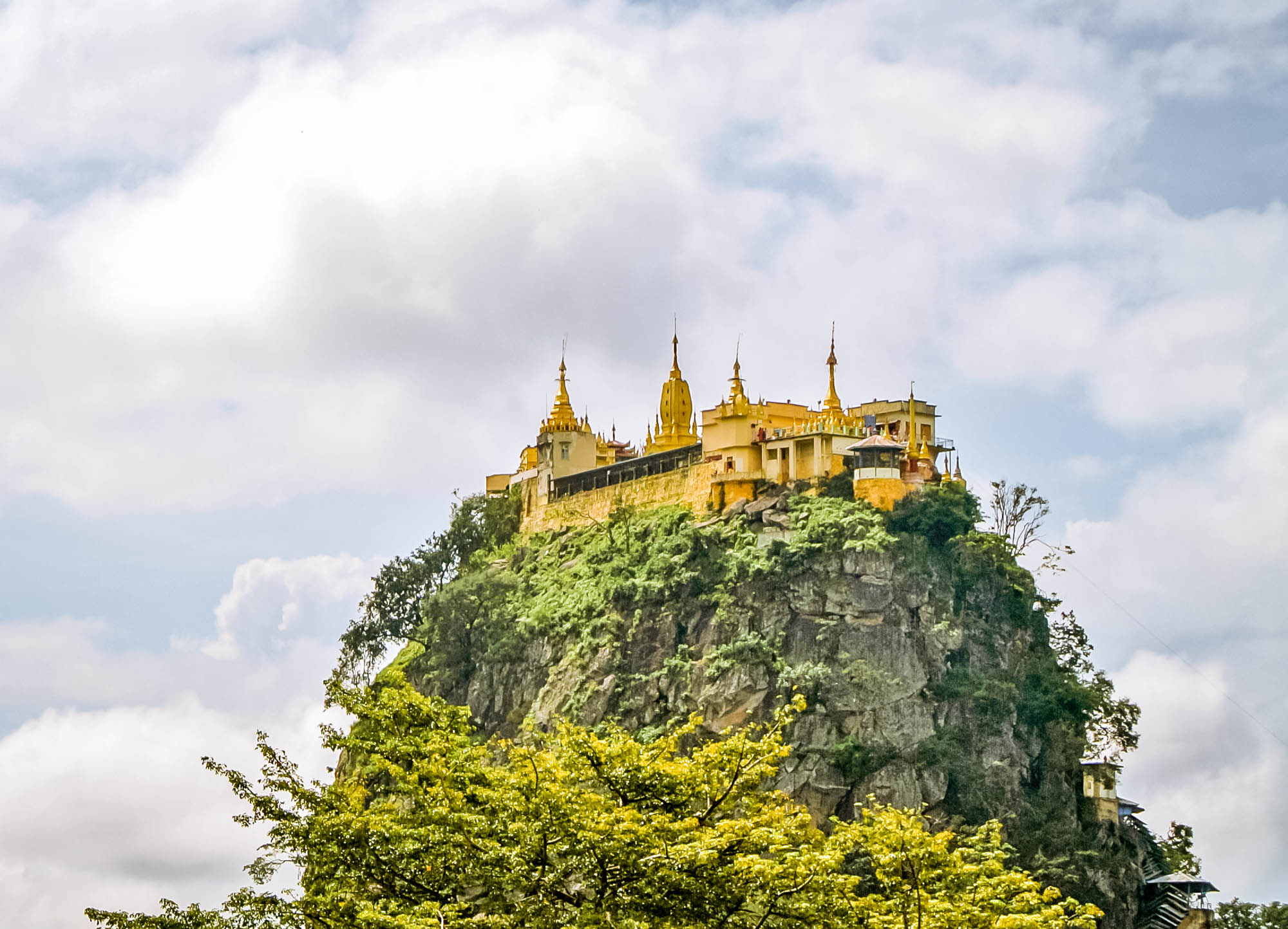 Mount Popa near Bagan on the Myanmar Itinerary