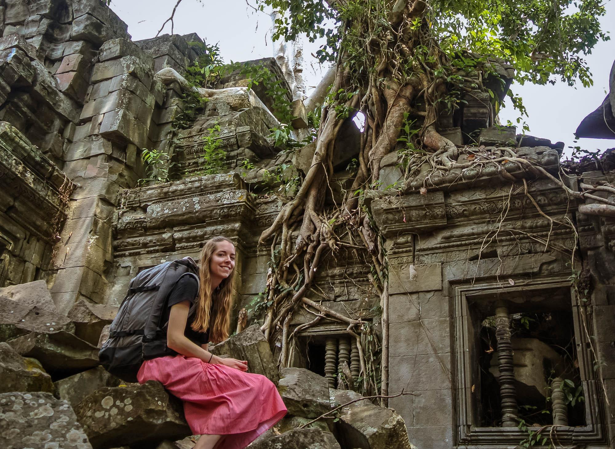 Girl Sits at Banteay Ampil