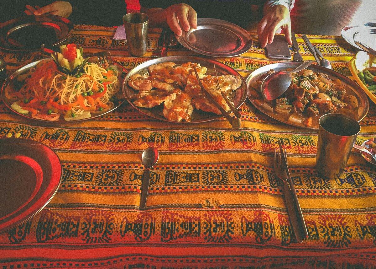llama path inca trail food