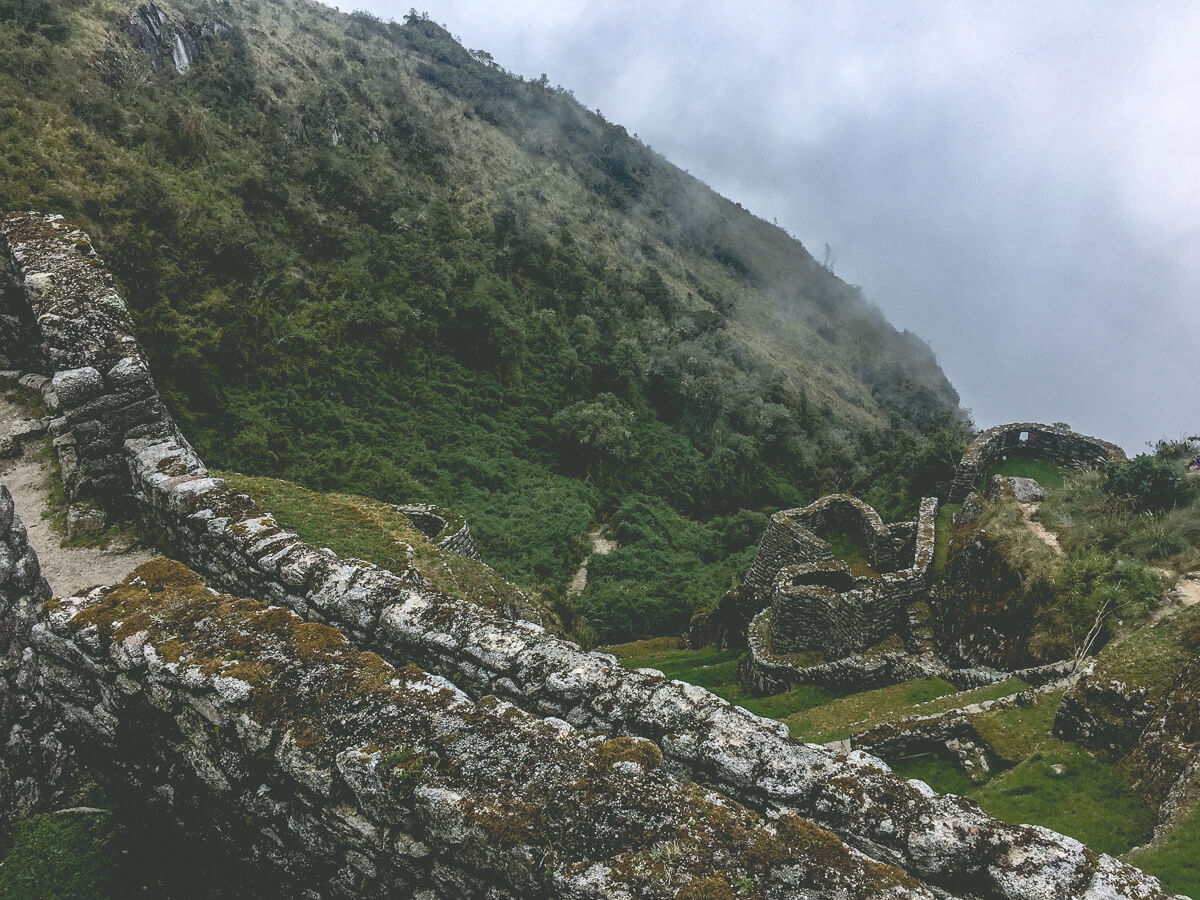 Inca ruins on the Inca Trail