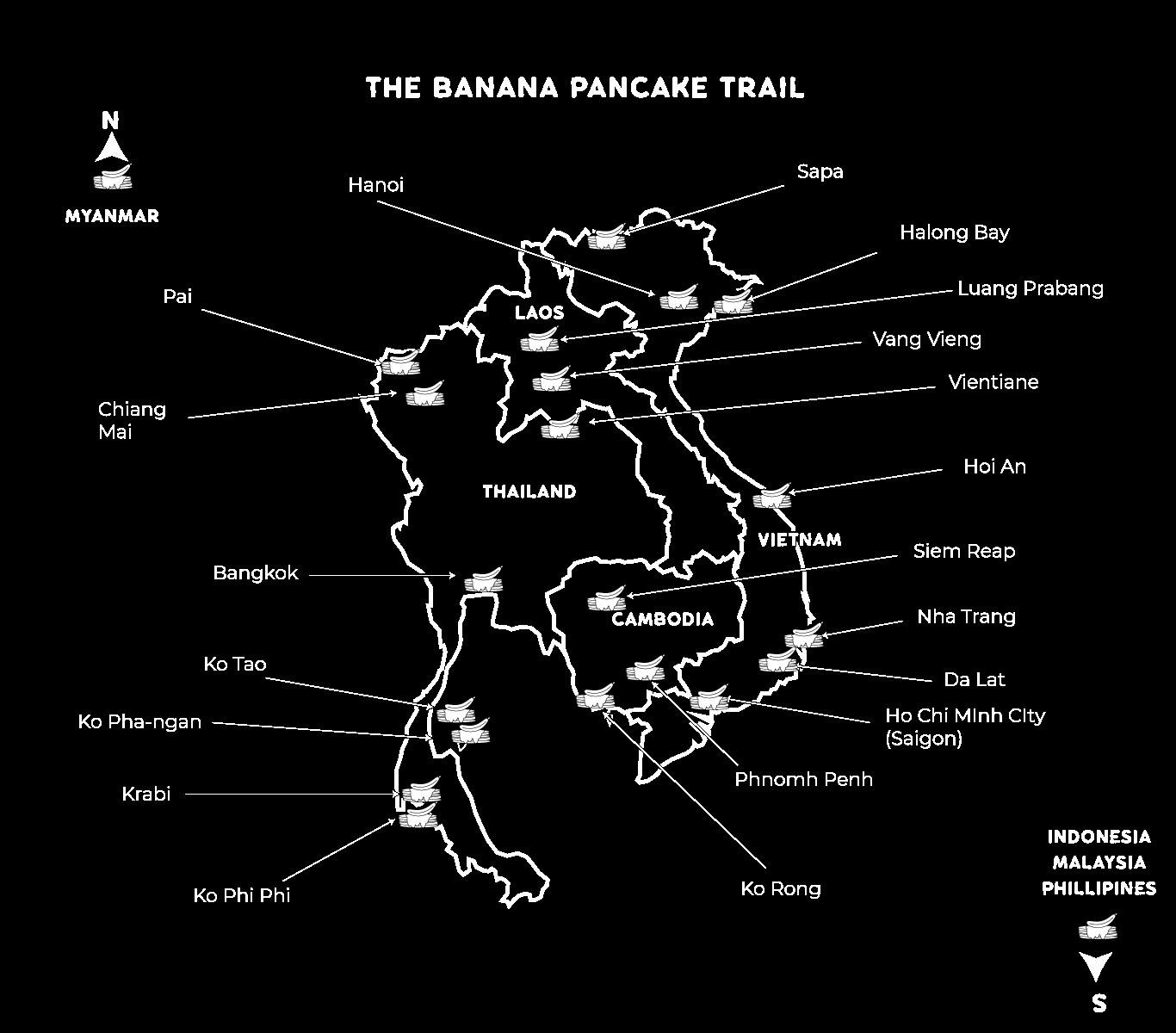 banana pancake trail map