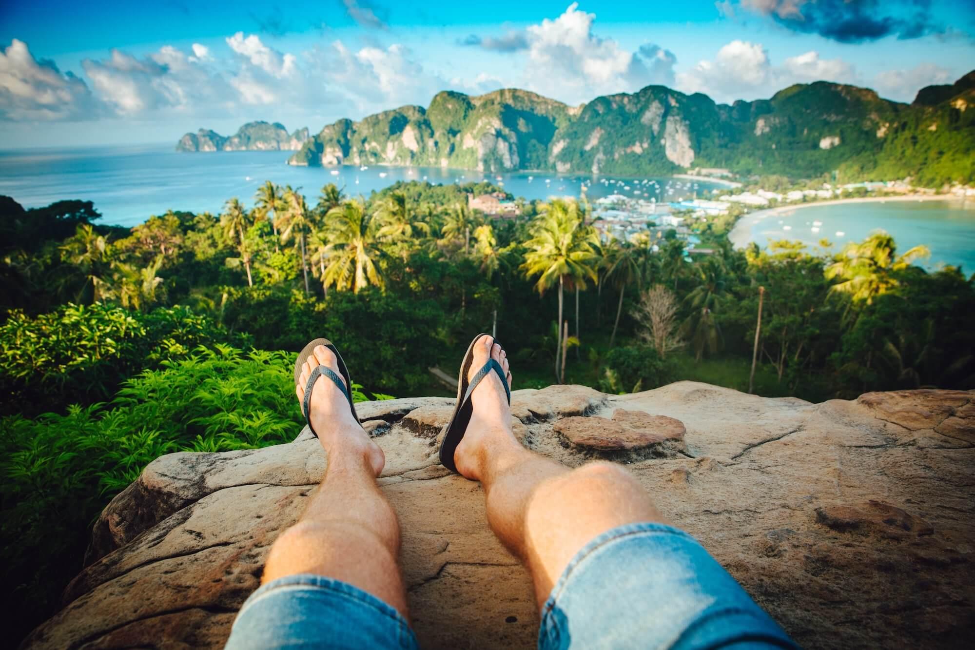 relaxing at ko phi phi on the banana pancake trail