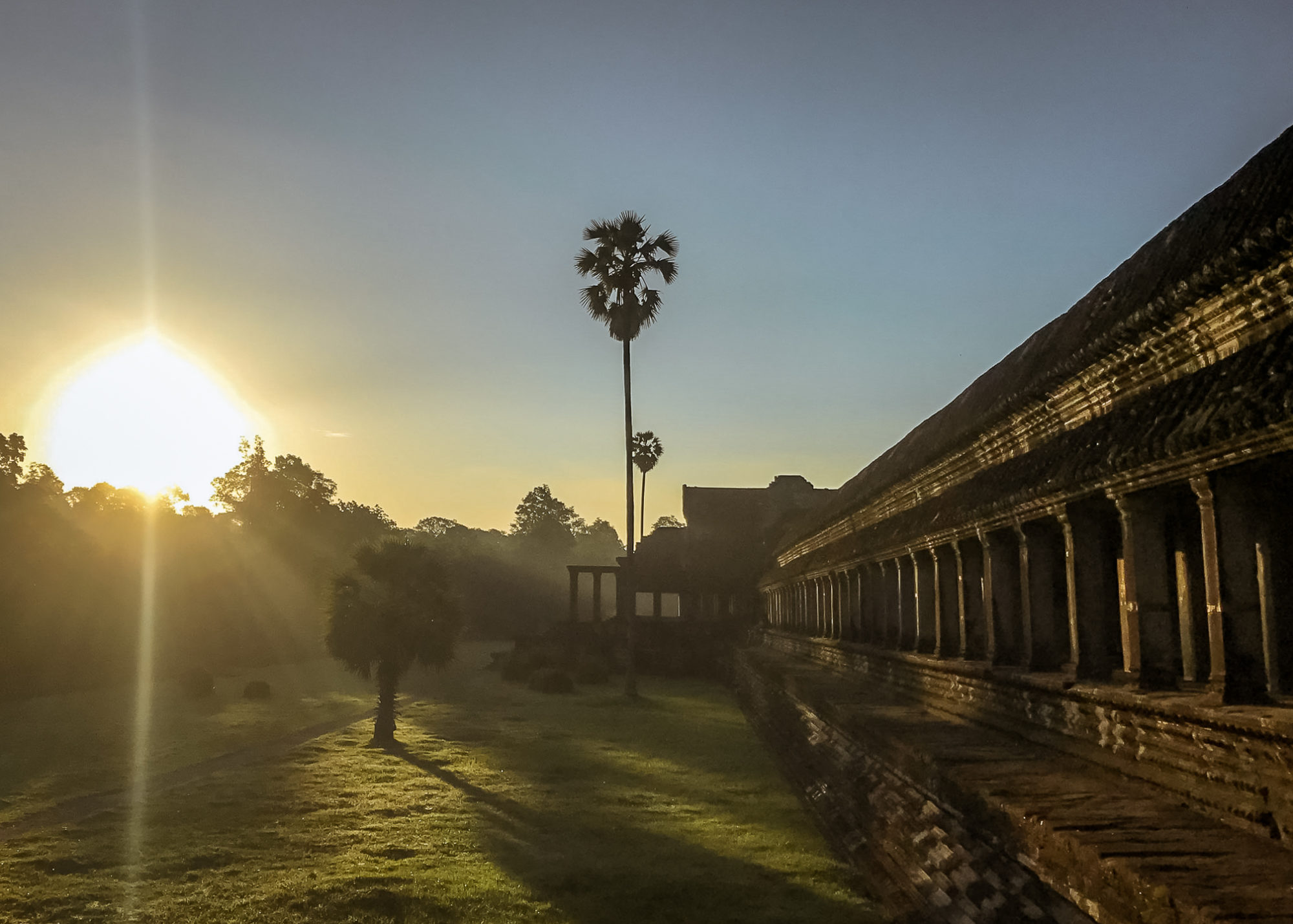 Angkor Wat at Sunrise a stop on the Cambodia Itinerary