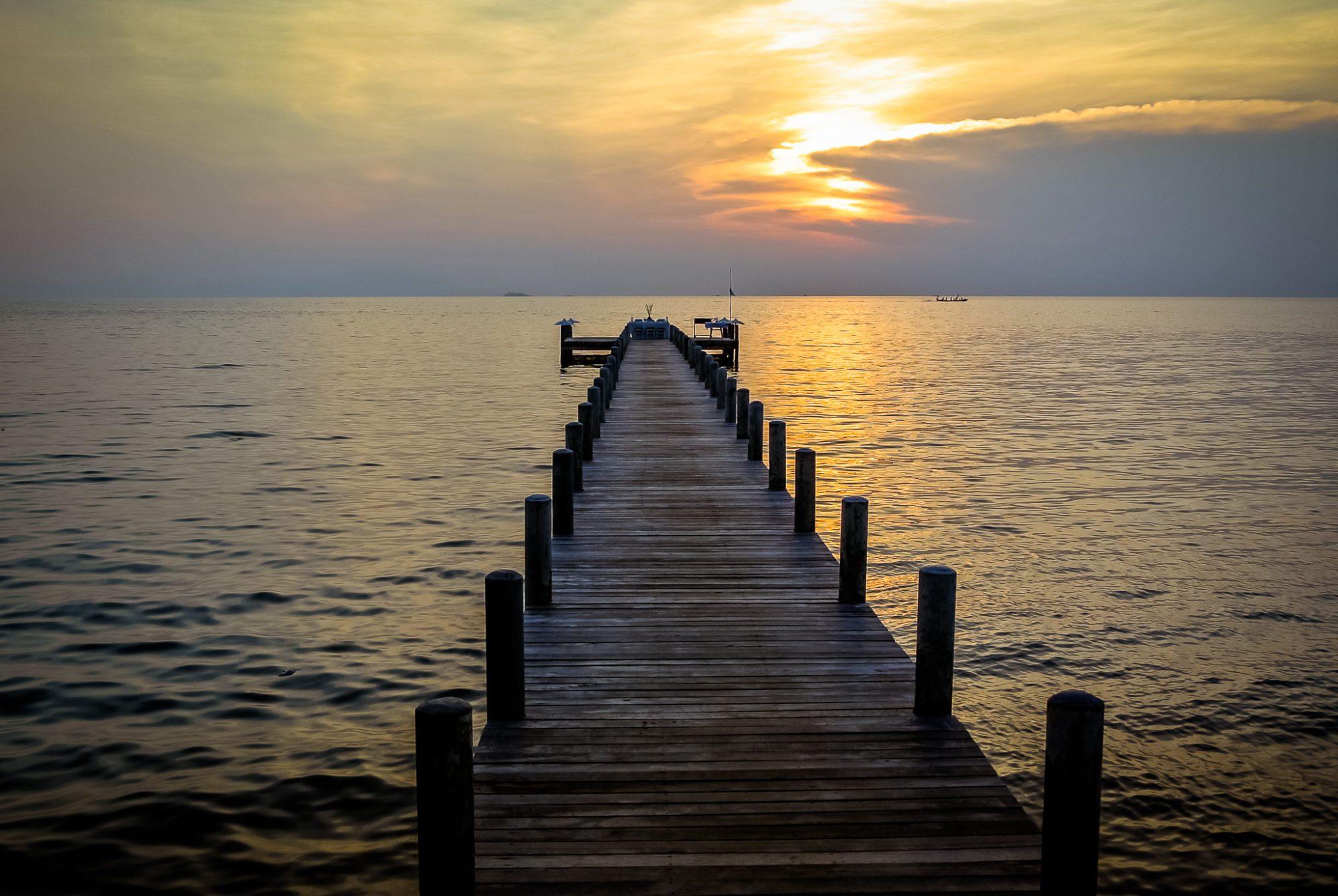 Kep - Sunset at the Sailing Club