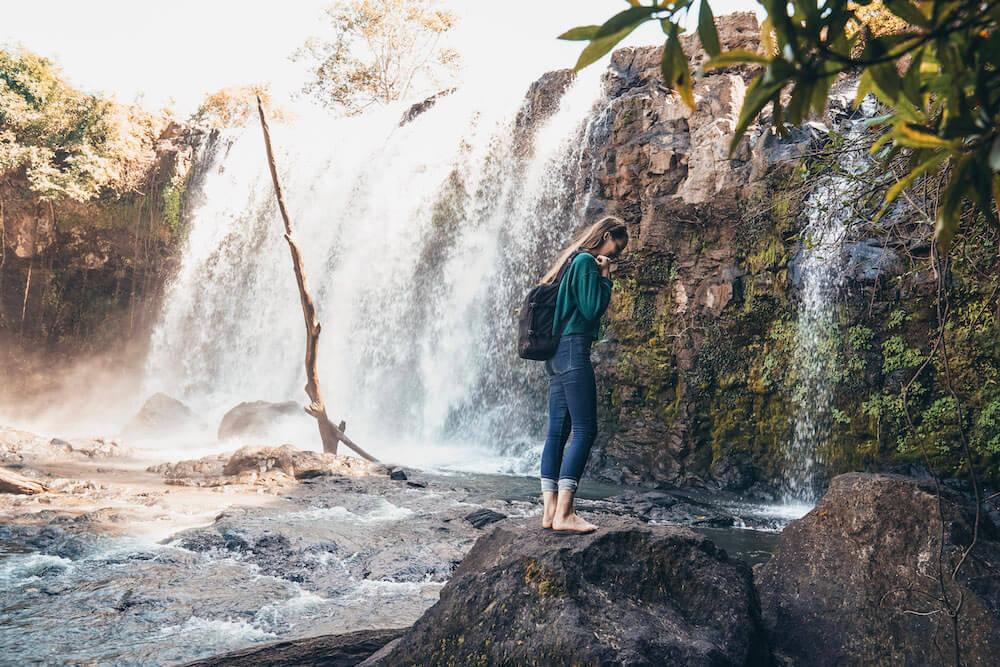 Bousra Waterfall in Mondulkiri Cambodia
