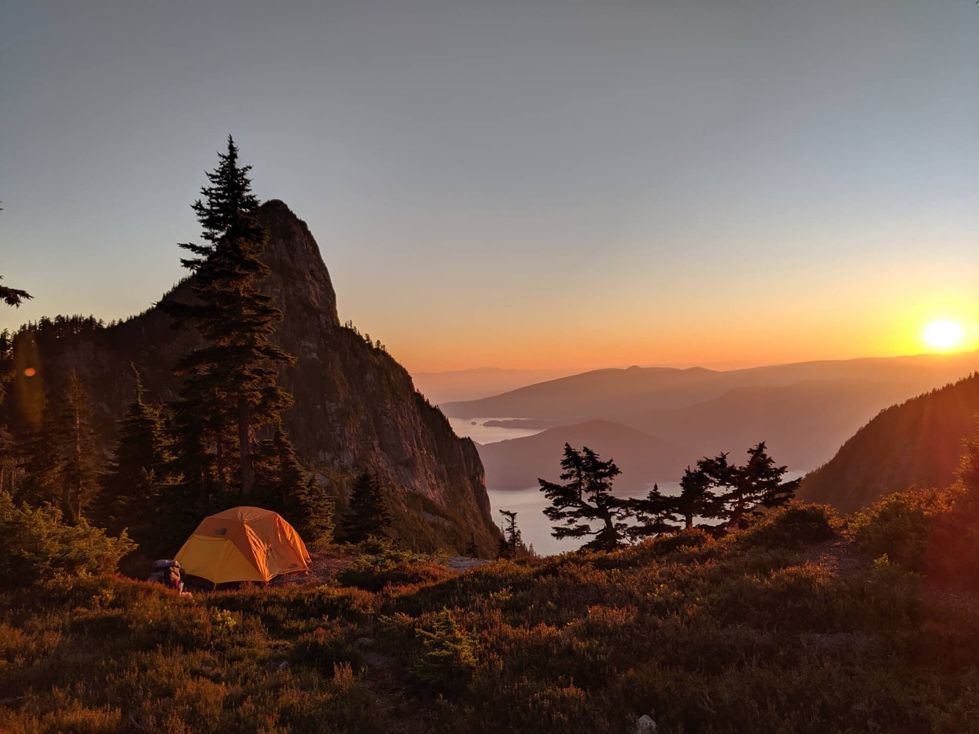 View from the campsite at magnesia meadows