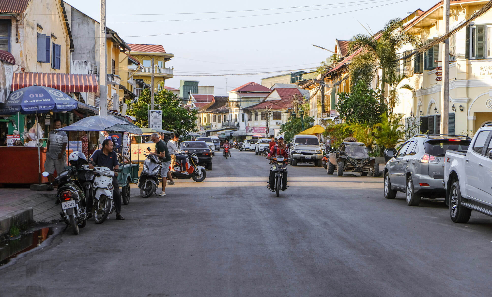 Kampot colonial buildings