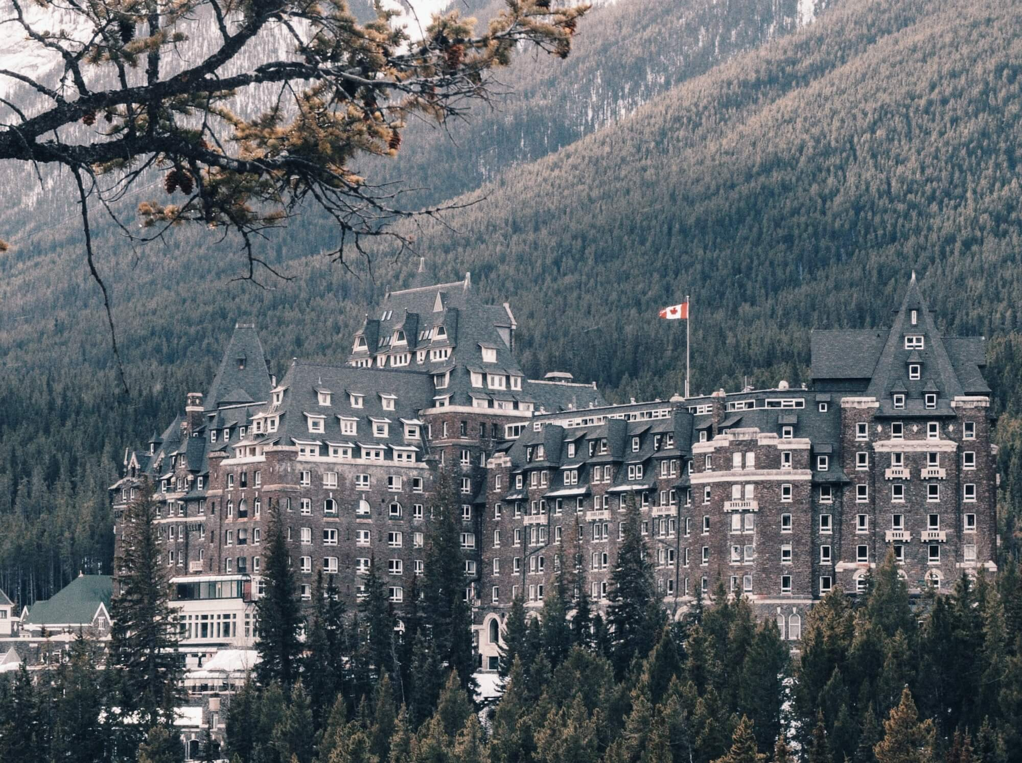 Banff Springs hotel in winter